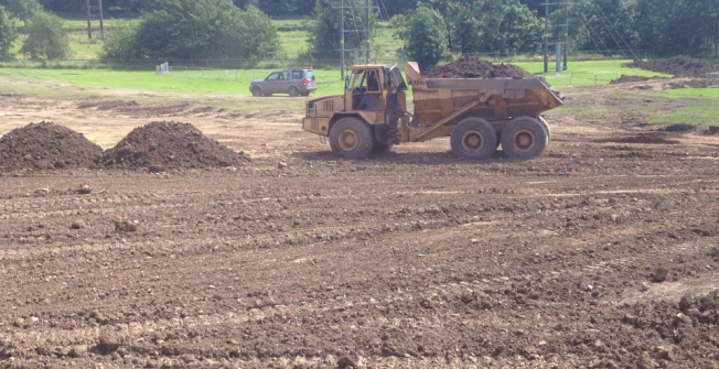 Rugby Pitch Installation in Wakes Colne Green