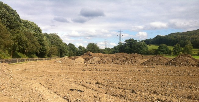 Rugby Pitch Construction in Bottom of Hutton