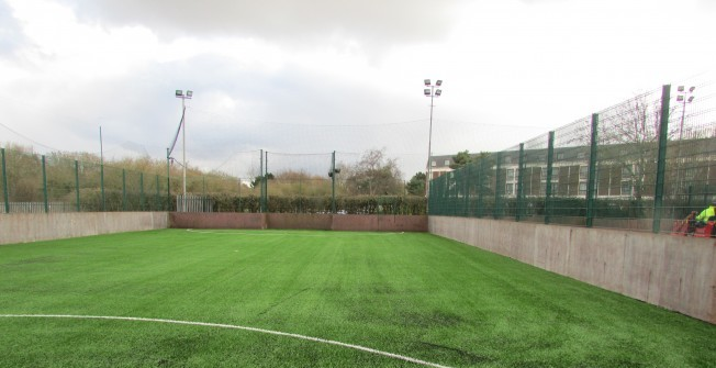 Resurfacing Synthetic Pitch in Much Dewchurch
