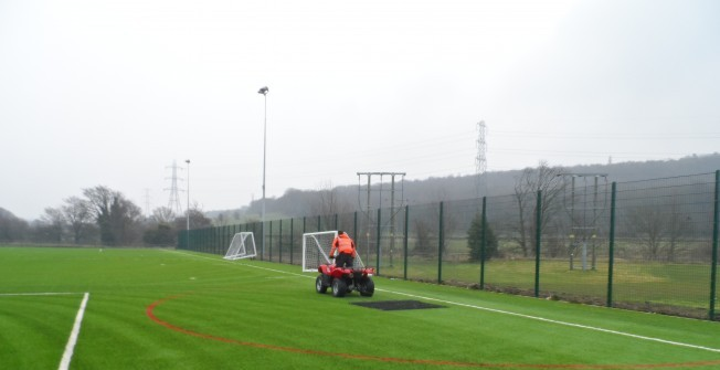 Artificial Rugby Field Maintenance in Biddisham